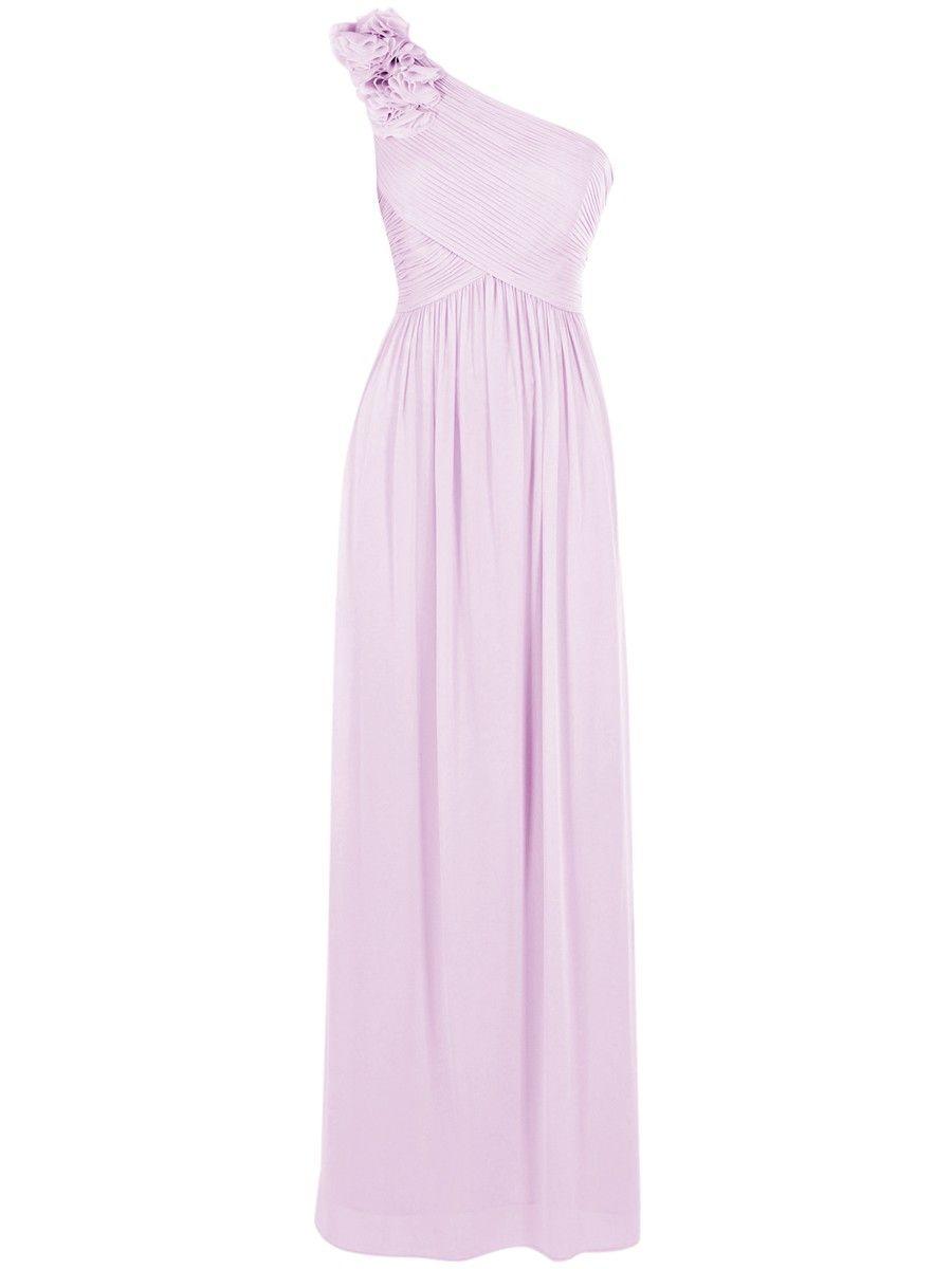 One-shoulder Chiffon Dress | Wedding apparel | Wedding apparel ...