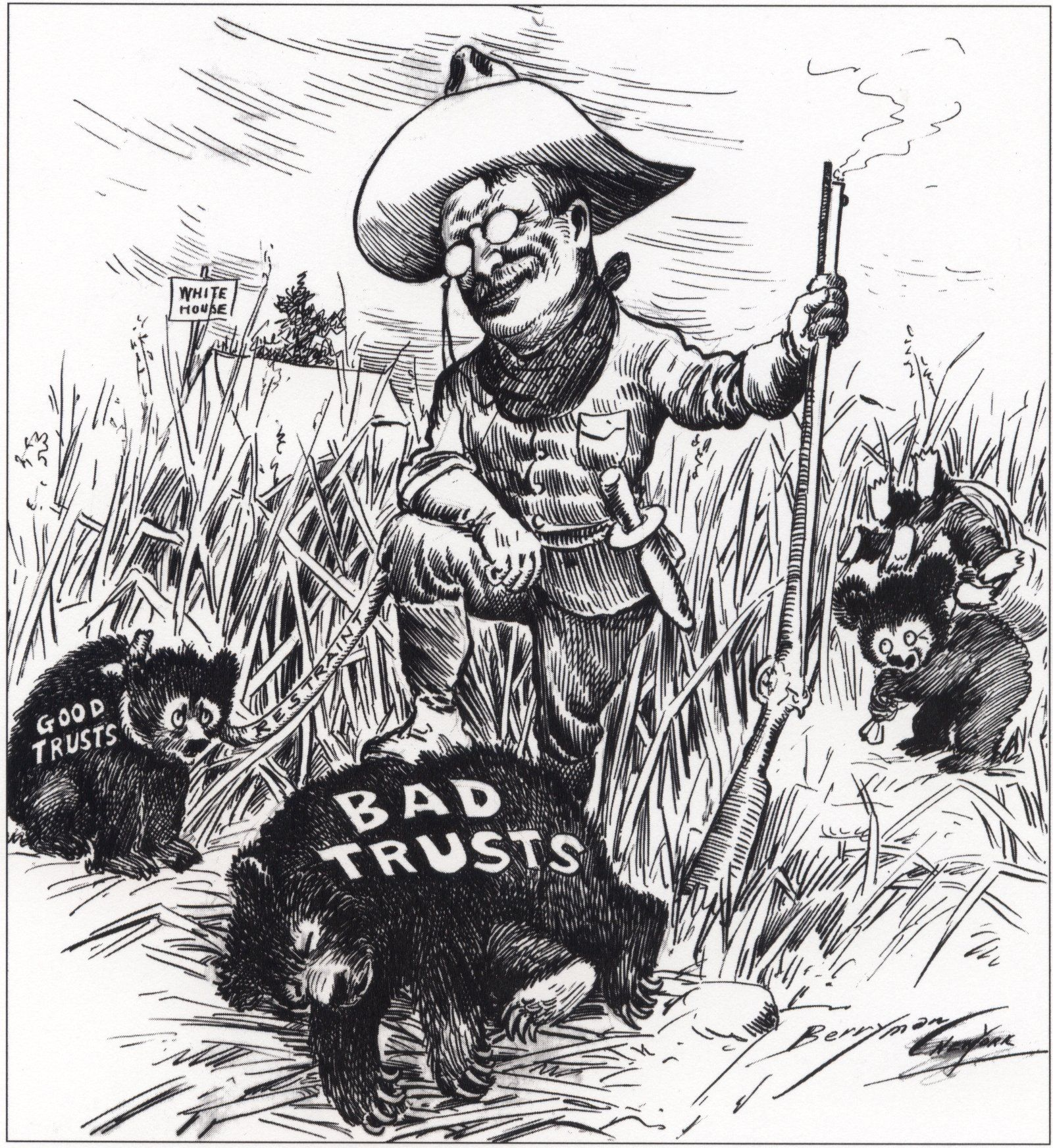 Roosevelt And Trusts Cartoon Gilded Age