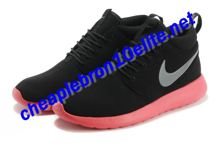 classic fit d9edf ff85d Coal Black Carbon Grey Nike Roshe Run Suede Mid Womens Atomic Red 511881 016