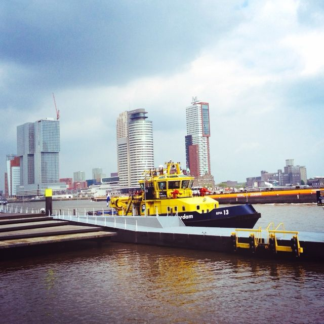 Just a small part of the enormous Rotterdam harbour. Weekend trip to Rotterdam (Holland), Netherlands.