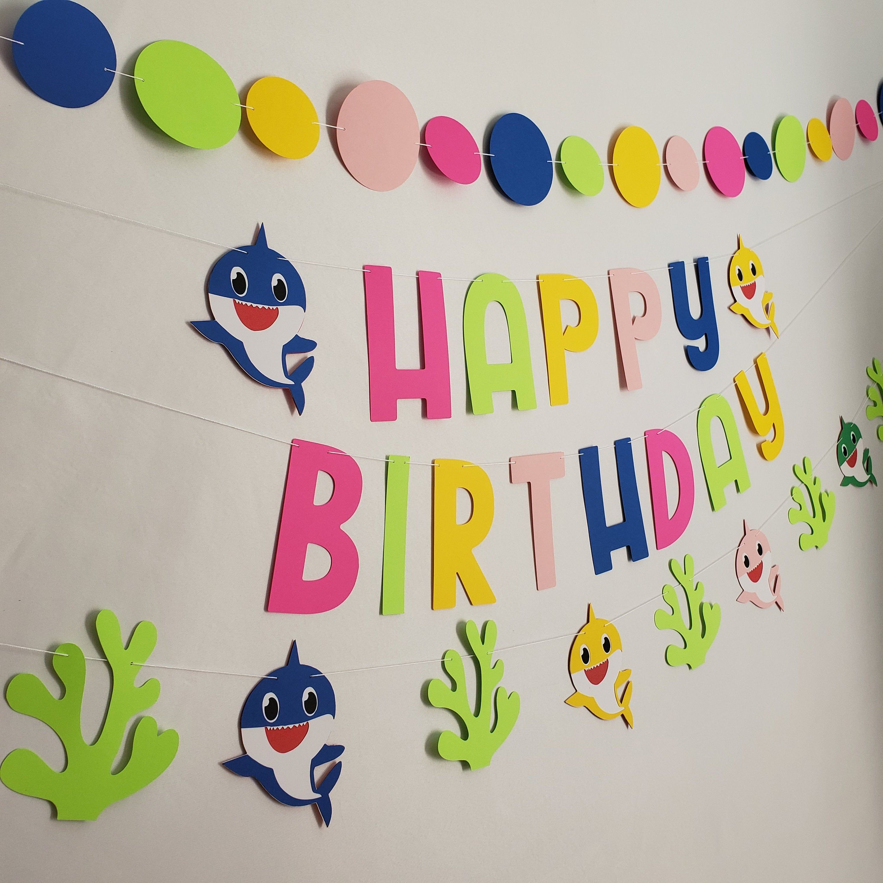 Excited To Share The Latest Addition To My Etsy Shop Baby Shark Banner Baby Shark Birthday B Shark Theme Birthday Shark Themed Birthday Party Shark Birthday