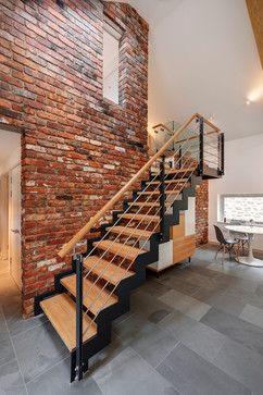 The Milking Parlour West Yard Farm Dartmoor Contemporary Staircase Dom Dizajn Lestnica