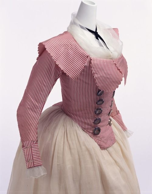 Silk jacket (French), KCI, c. 1790