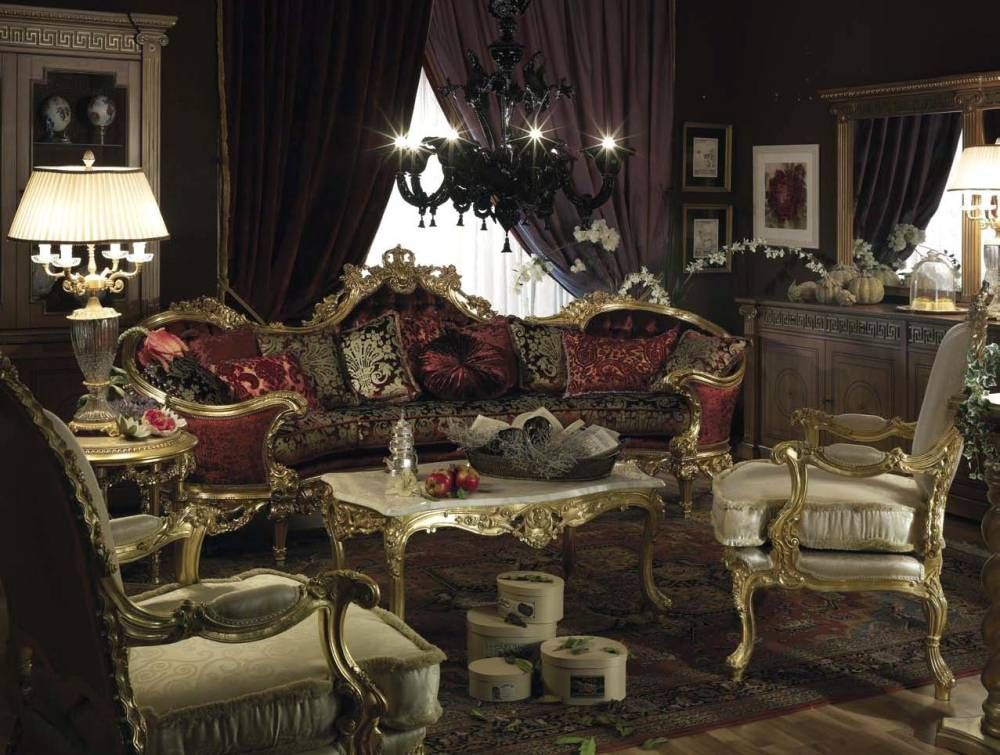 Tuscan Style Furniture | Royal Style Living Room Design Sofa ...