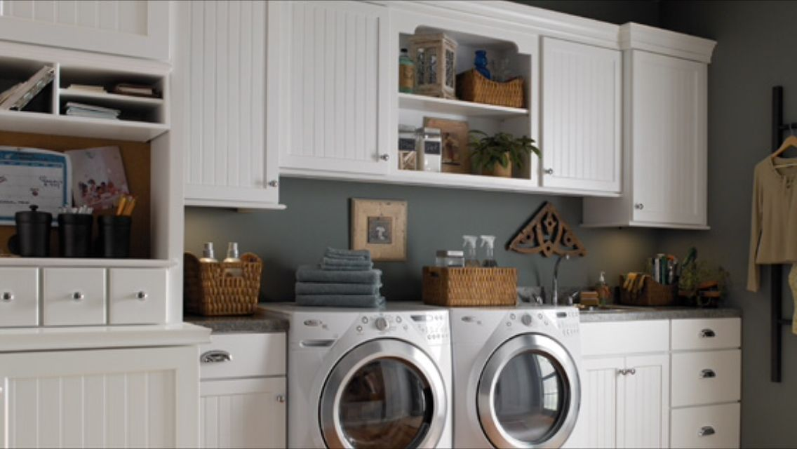 Love The Beadboard Cabinets For A Laundry Room Menards Home Appliances Multipurpose Room