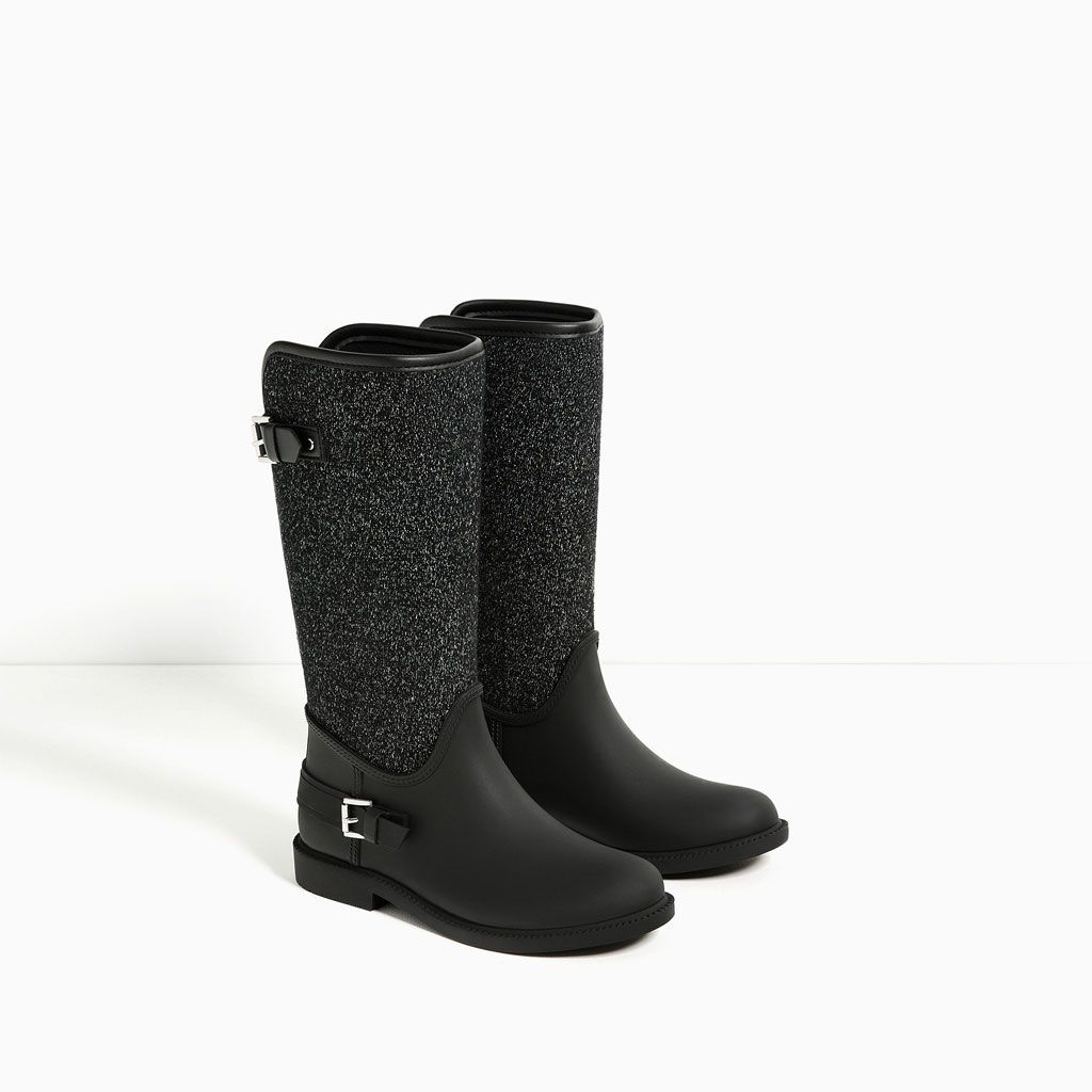 Image 2 of CONTRAST RAIN BOOTS from Zara | Want it.. | Boots