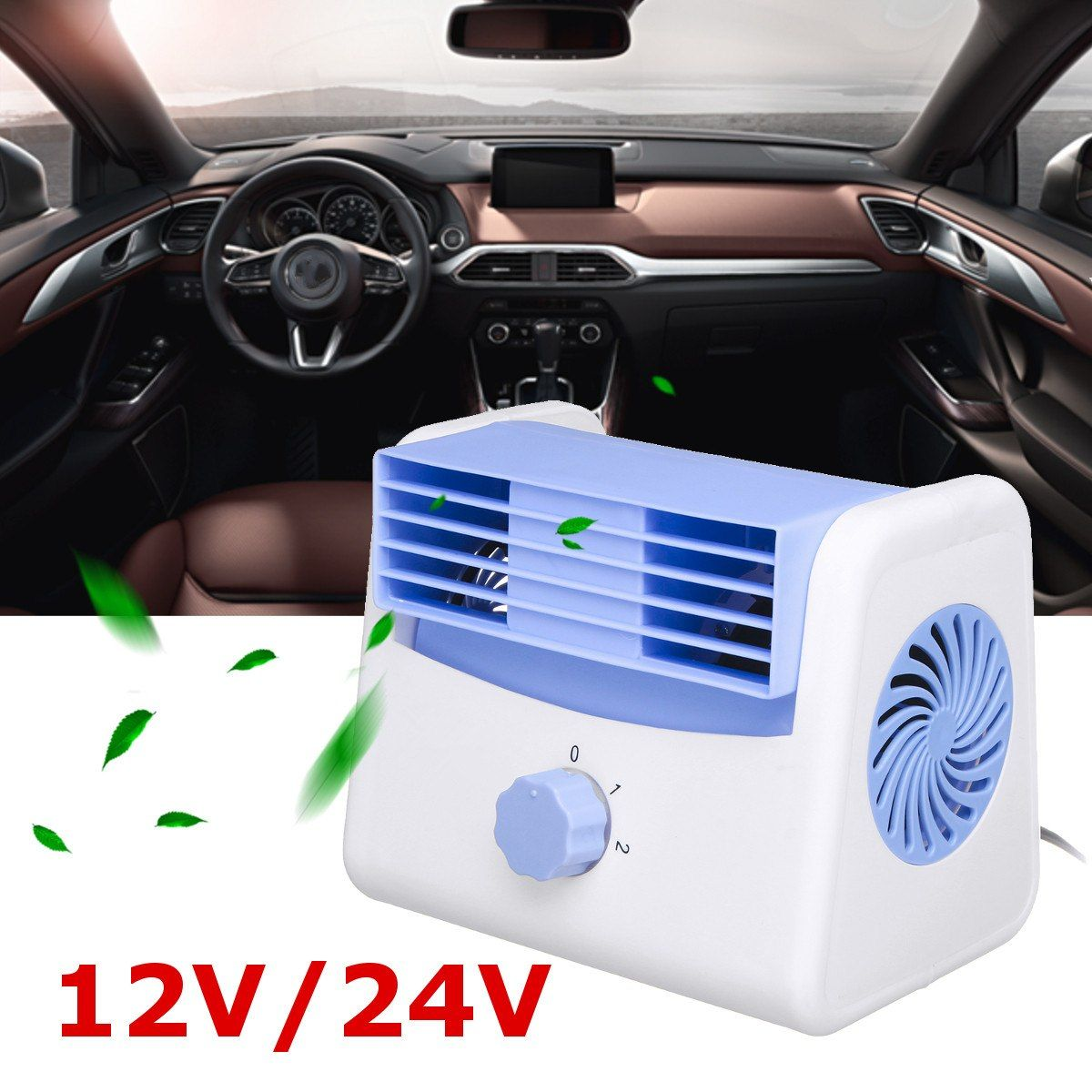 12v 24v Car Cooler Fan Auto Air Conditioner Cooling Speed