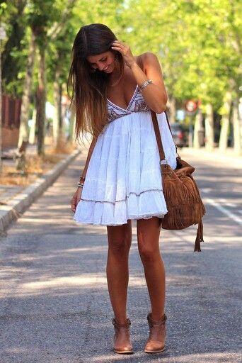 Boho chic, cute summer dress