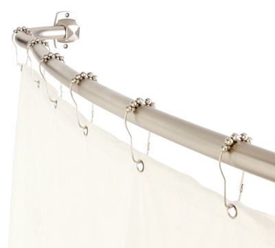 72 In Brushed Nickel Curved Adjustable Double Shower Curtain Rod Shower Rod Double Shower Curtain Double Shower Curtain Rod