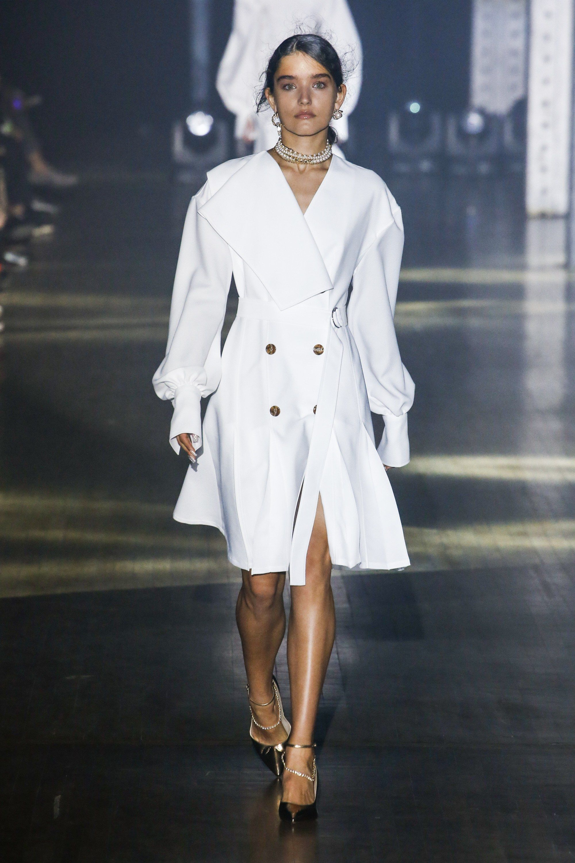 70fe38ff95 Love this crisp white coat dress by Adeam Spring - 2019 Ready-to-Wear  Collection - Vogue