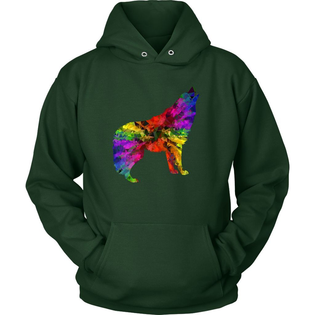 Unisex Pull-Over Hoodie (Howling Wolf Design) (Available in Multiple Sizes and a Ton of Colors)