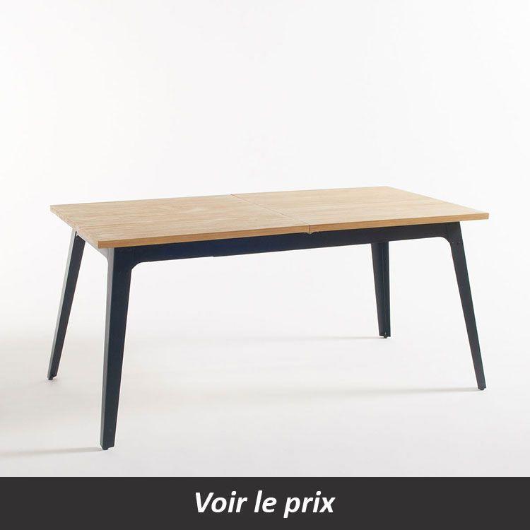 Quelle table plateau bois pied métal choisir pour sa salle à manger?
