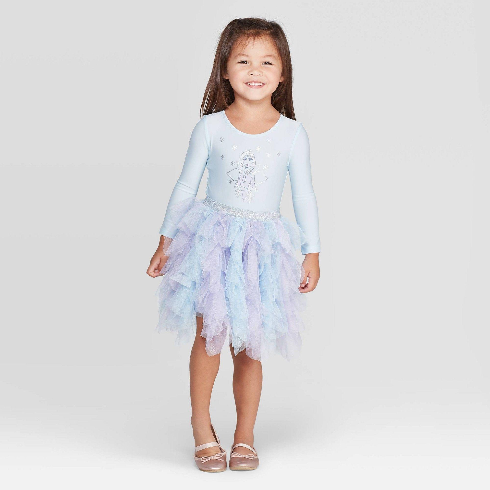 Toddler Girls Disney Elsa Long Sleeve Tutu Dress Light Blue 5t Girl S Disney Dresses Girls Lace Dress Crochet Dress Girl [ 2000 x 2000 Pixel ]