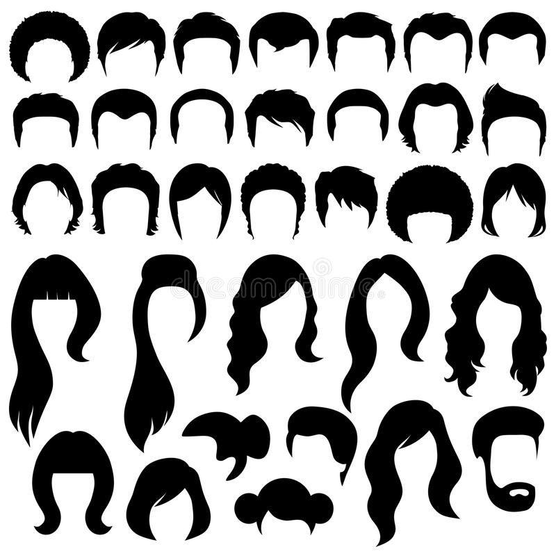 Hair Silhouettes Woman And Man Hairstyle Sponsored Silhouettes Hair Woman Hairstyle Man Ad In 2020 Hair Clipart Cartoon Hair Hair Vector