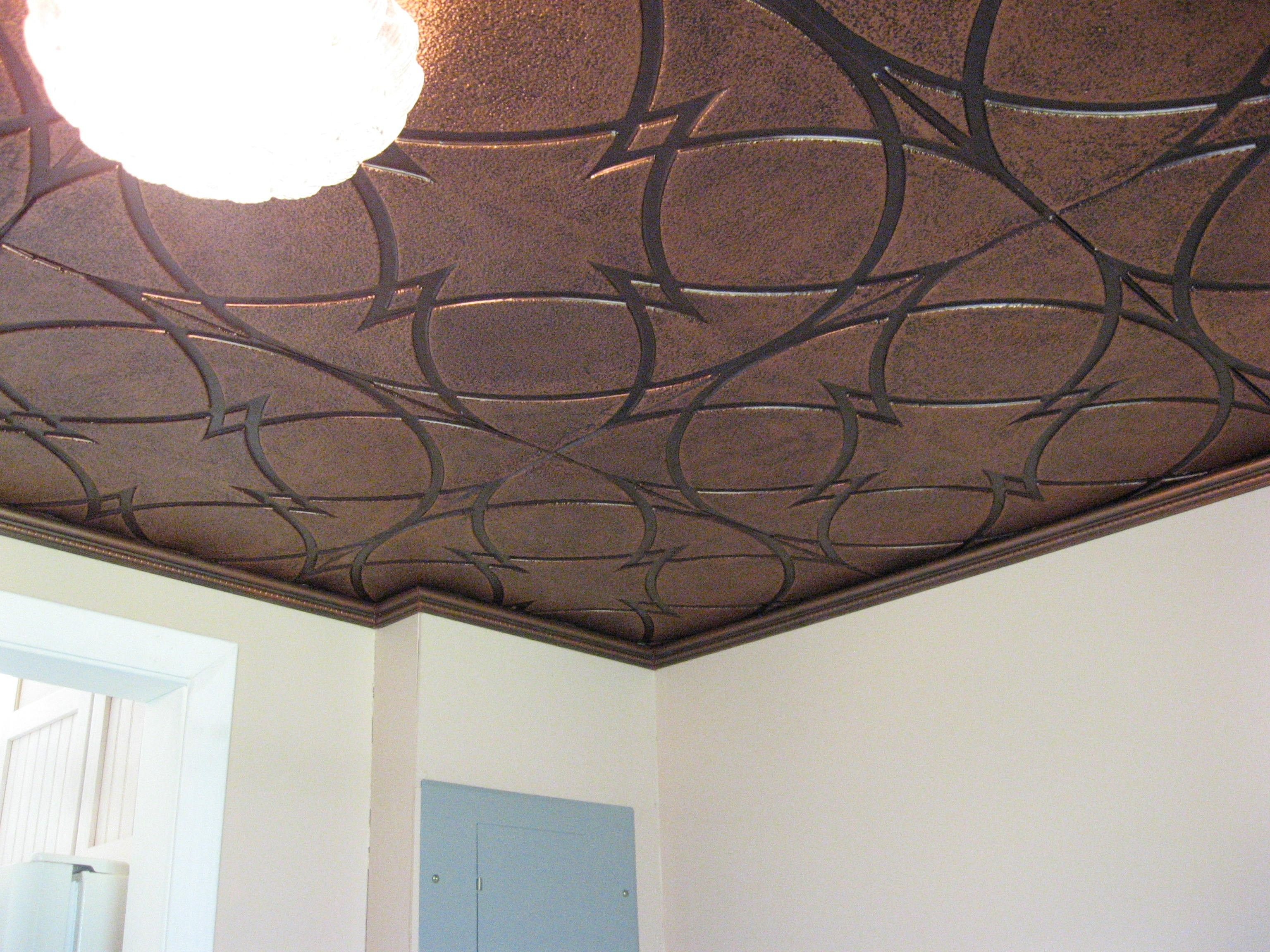 Pvc ceiling tiles look like real tin but much less expensive diy ceiling pvc ceiling tiles doublecrazyfo Image collections
