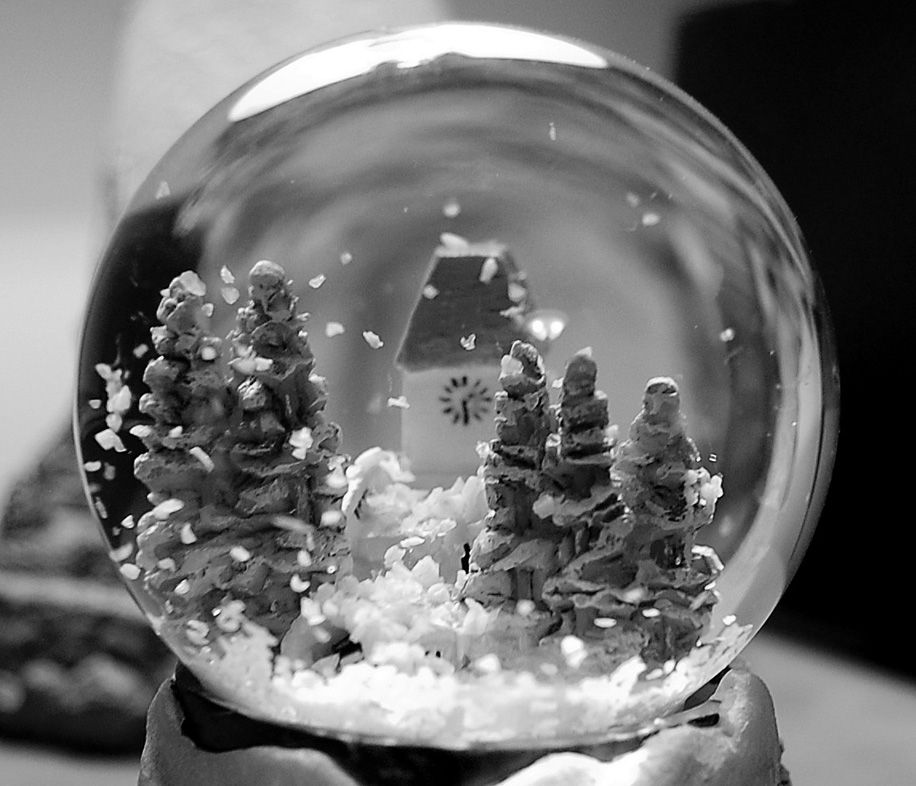 Beautiful and haunting snow globe