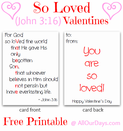 So Loved Valentines Day Cards Free Printable – Valentine Cards to Print