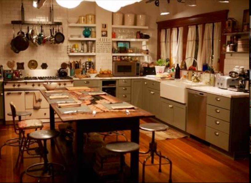farmhouse kitchens the kitchen from    the fosters     home decor   pinterest      rh   pinterest com