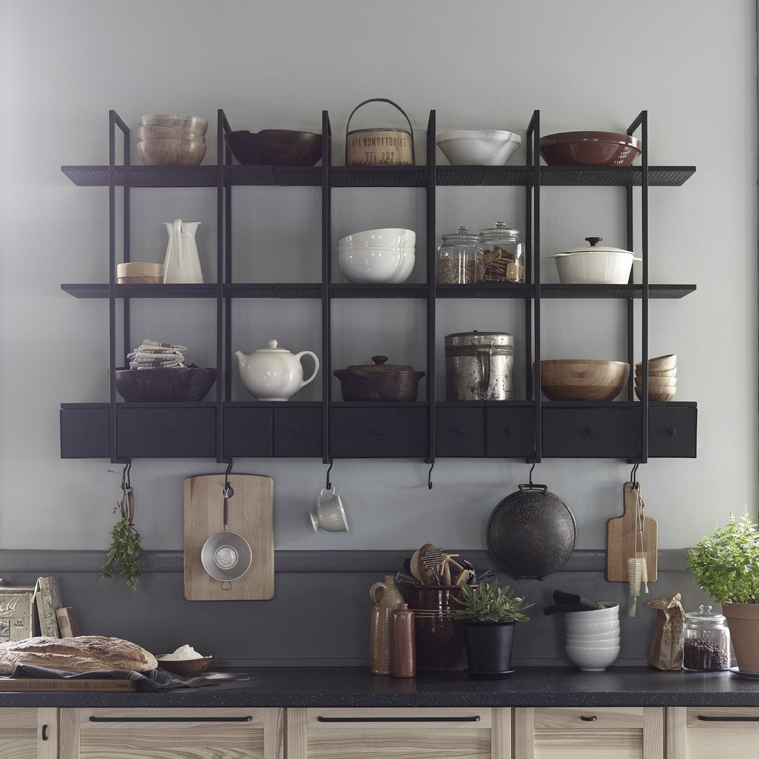 Etag re murale ikea ikea ce qui vous attend en magasin for Etagere metal pour cuisine