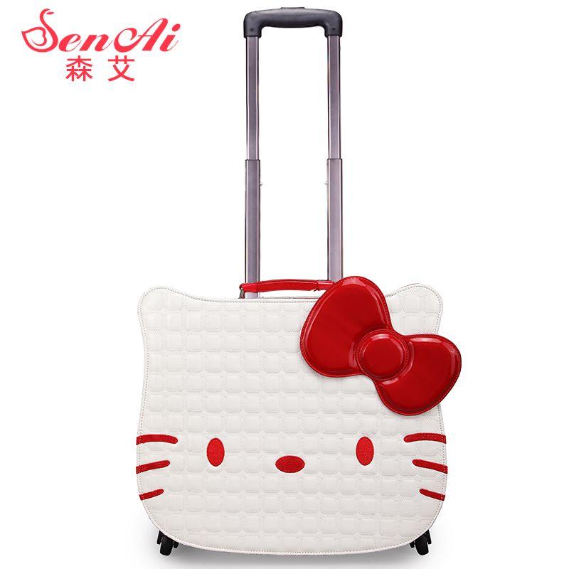 ceabefadad Hellokitty universal wheels trolley luggage travel bag suitcase child  luggage