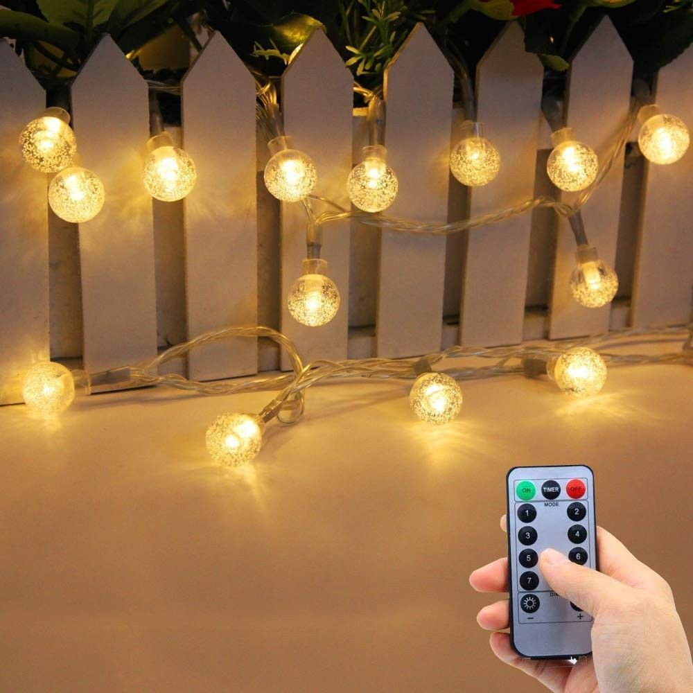 Battery Operated String Lights Indoor Outdoor 33fft 80leds