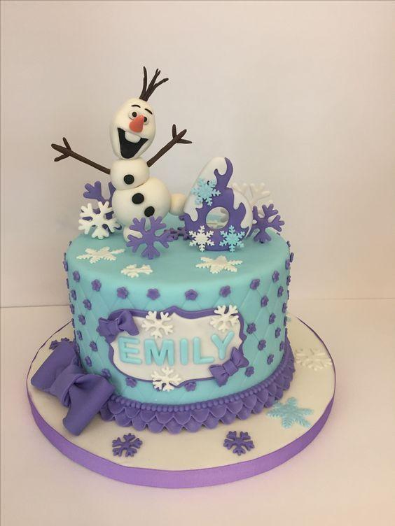 Miraculous Bellos Pasteles Para Celebracion De Frozen In 2020 Frozen Personalised Birthday Cards Veneteletsinfo