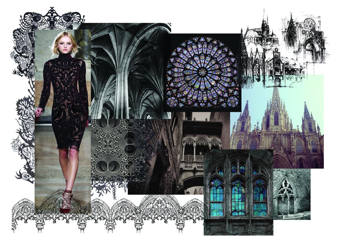 Gothic Moodboard   Fashion portfolio layout, Style ...