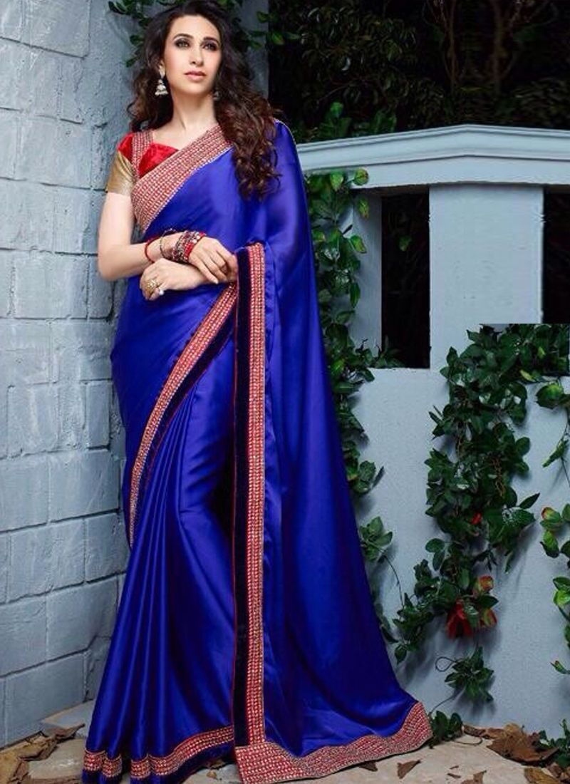 Silk saree lehenga wholesale blue georgette collection saree
