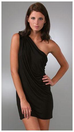 One Shoulder Black Dress Photo Album - Reikian