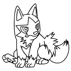 pokemon go poochyena coloring pages - Pokemon Go Coloring Pages