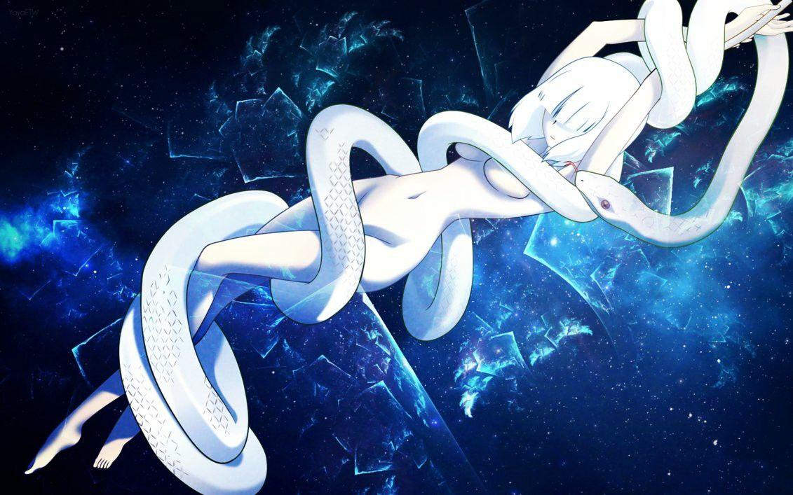 Картинки девушки змеи аниме