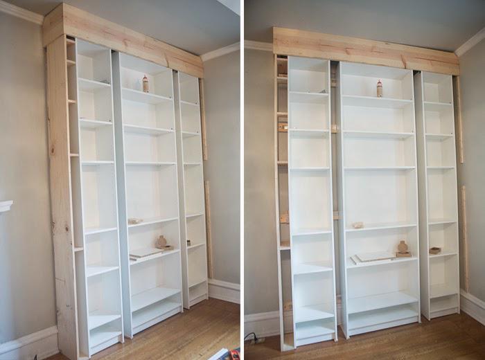 Laura's Living Room: Ikea Billy Bookshelves Hack