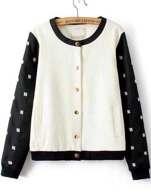 chaqueta combinado bordada botones 25.60