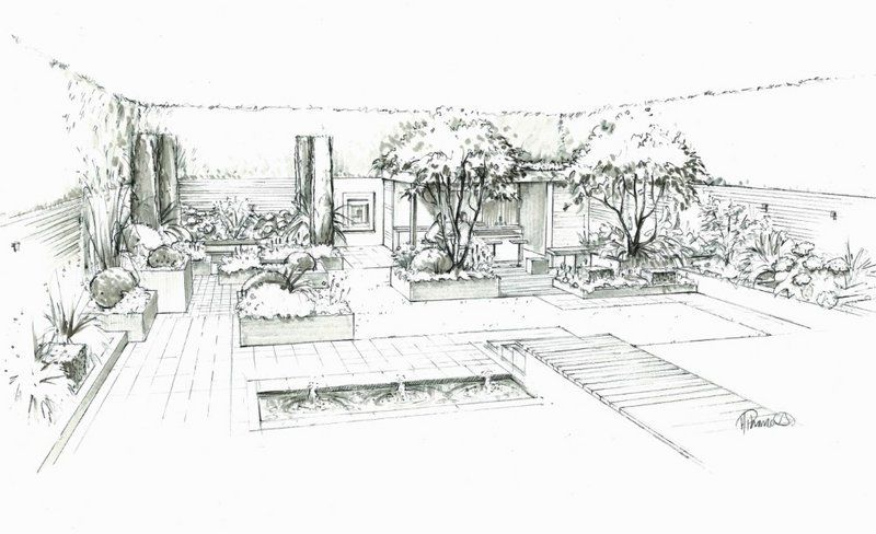 Image Result For Urban Garden Design Sketch