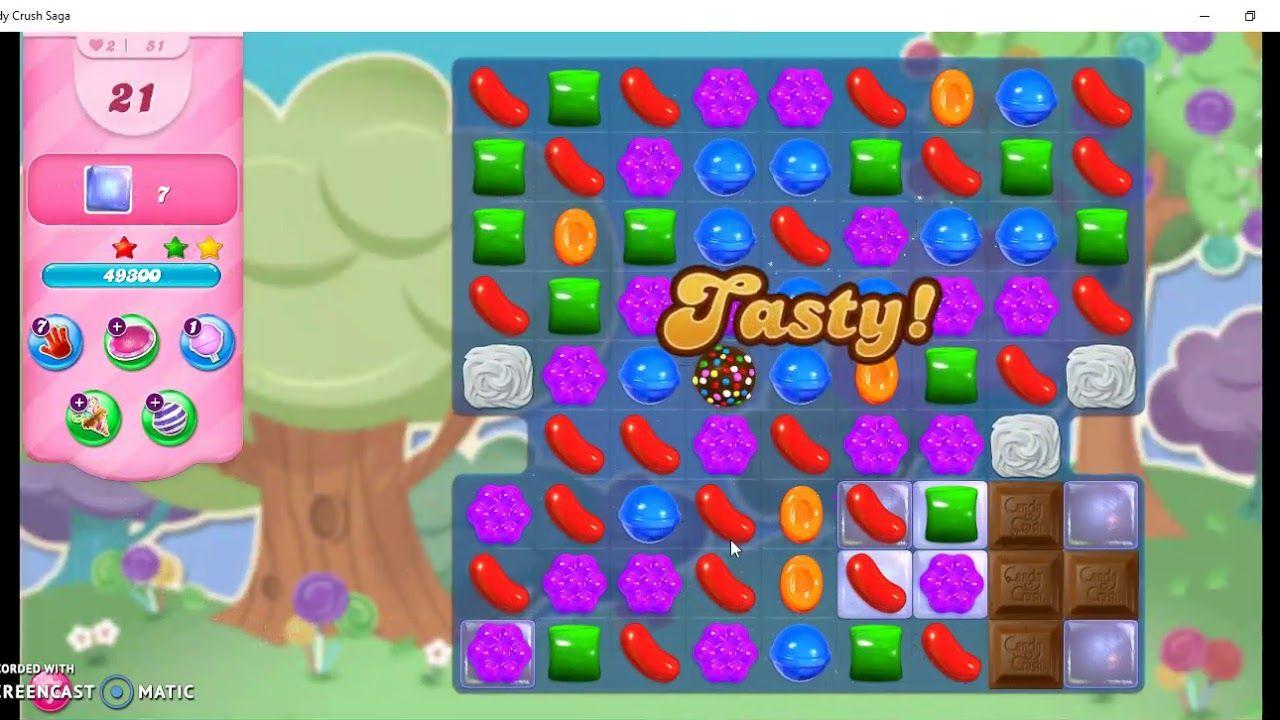 Candy Crush Saga Level 51 No Booster Candy Crush Soda Saga Candy Crush Saga Candy Crush Jelly Saga