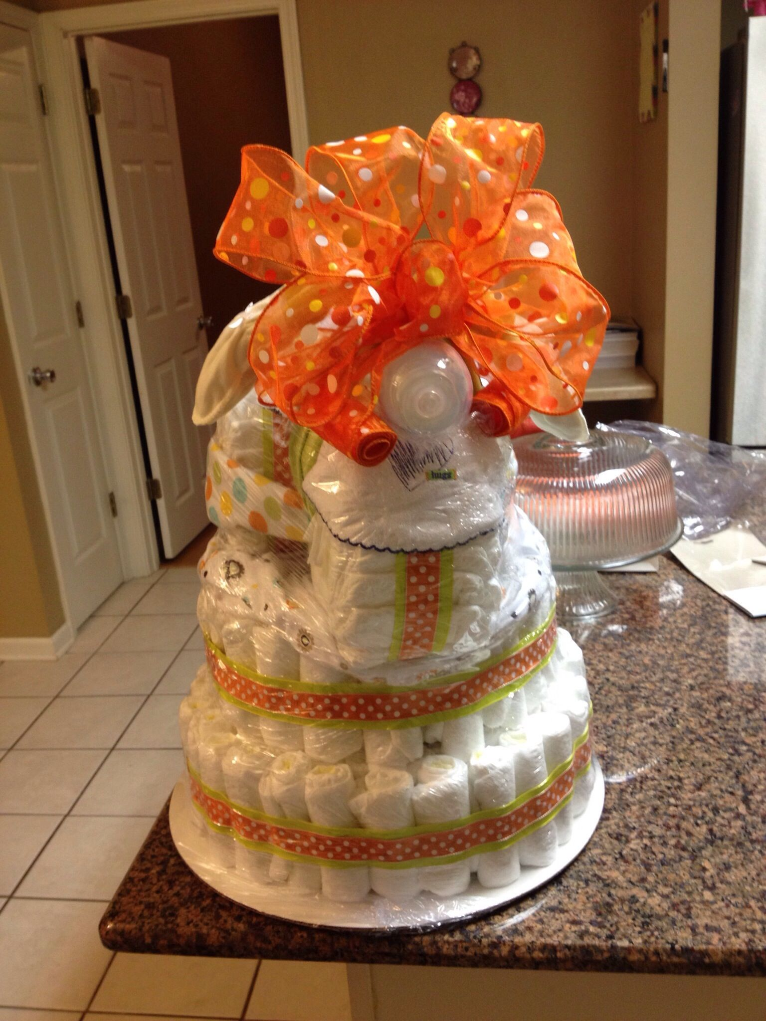 How to make a diaper cake made by th20 diaper cake