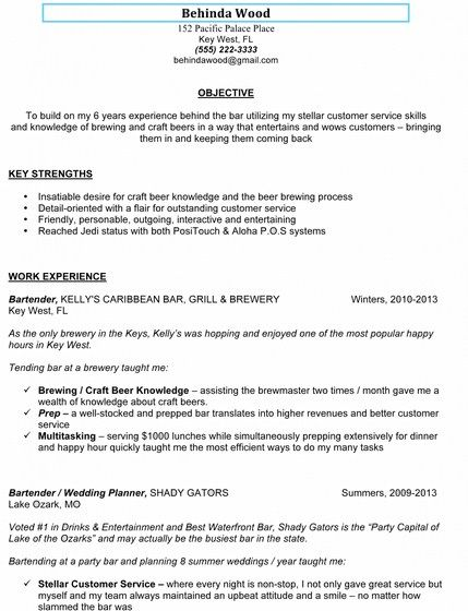 Resume Template For Bartender - http\/\/getresumetemplateinfo\/3215 - bartender job description for resume