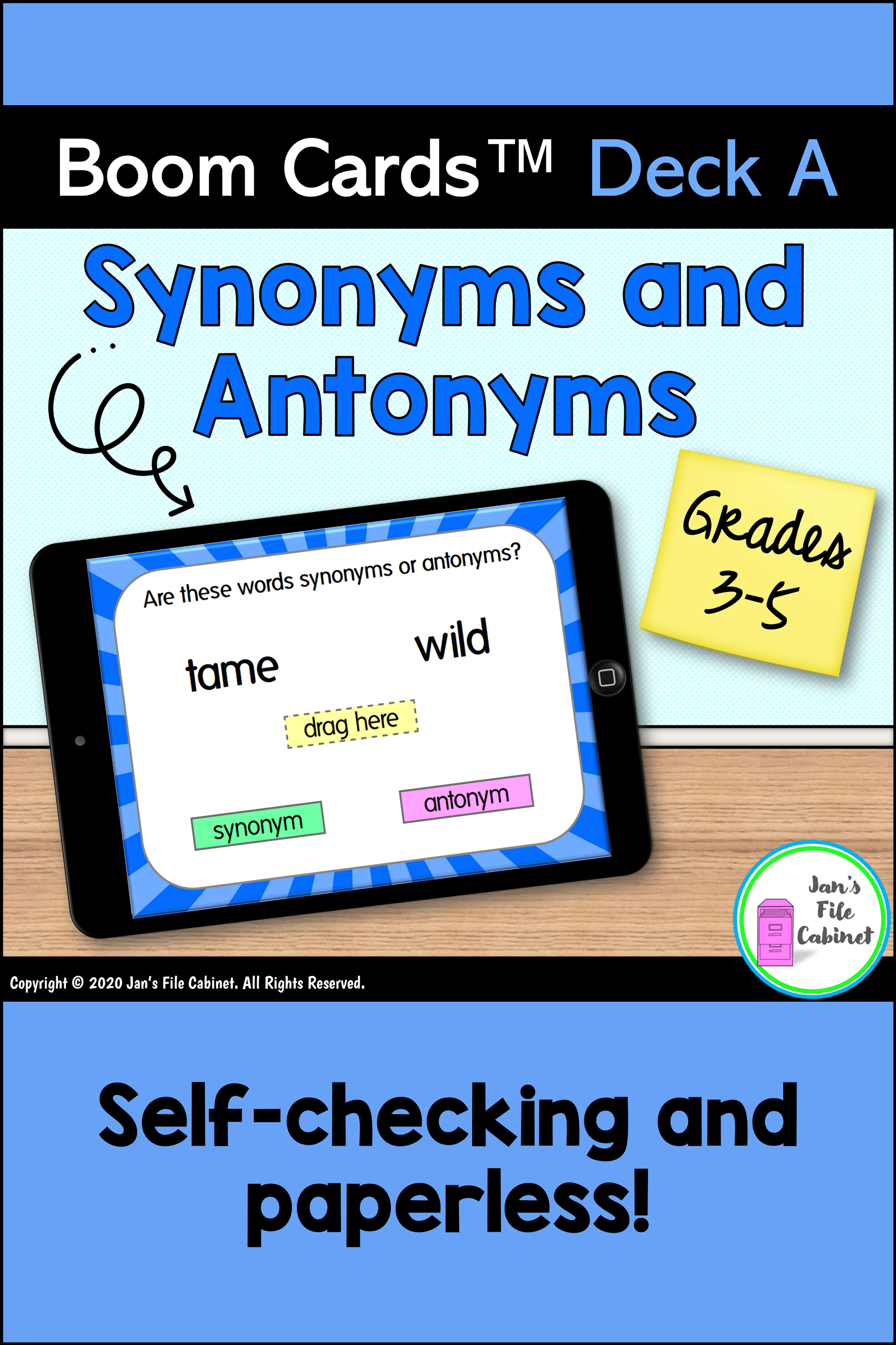 Synonyms And Antonyms Deck A Boom Cards Distance Learning Synonyms And Antonyms Vocabulary Strategies Vocabulary Activities