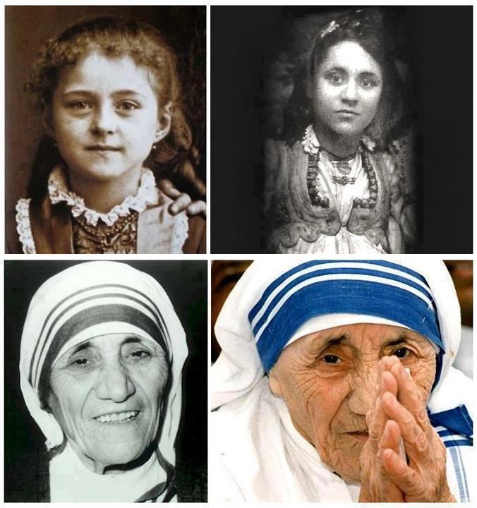 Santa Teresa de Lisieux y la madre Teresa de Calcutta.