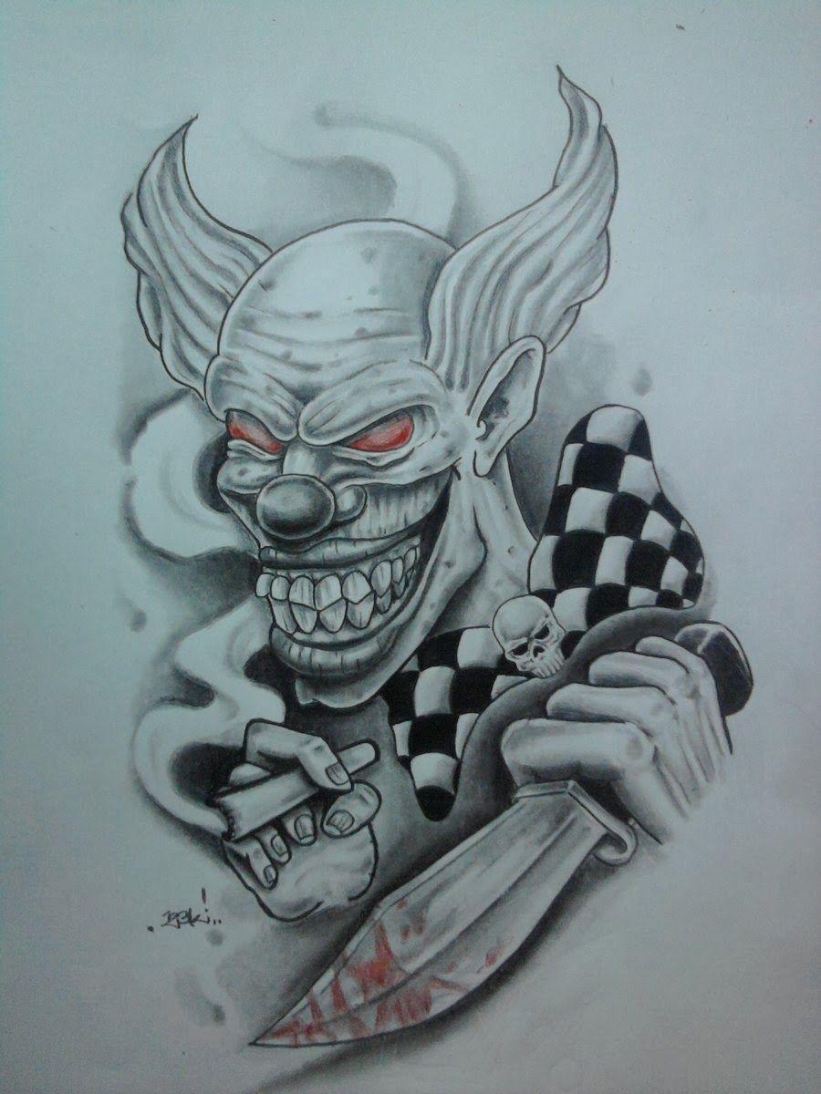 Desenho Palhaço Tatuagem download free  full bodied clown or just the clown s face