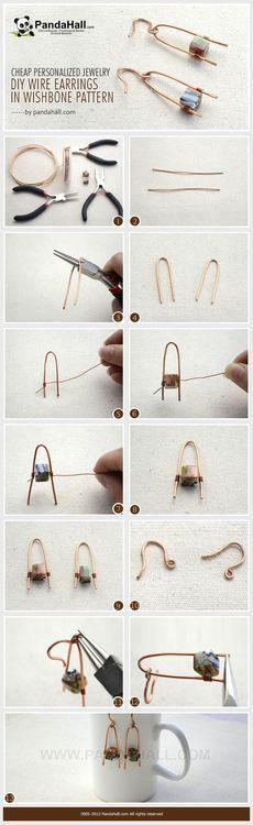 Jewelry Making Tutorial--DIY Personalized Wire Wishbone Pattern Earrings | PandaHall Beads Jewelry Blog