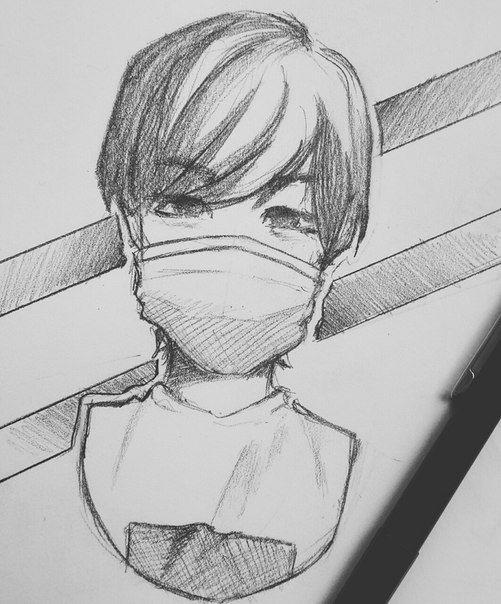 My Uchimsya Risovat Anime Predvaritelnyj Nabrosok