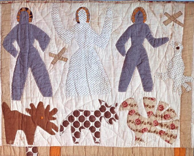 Bible Quilt, Applique detail, 1885 - 1886. Made by Harriet Powers ... : harriet powers bible quilt - Adamdwight.com