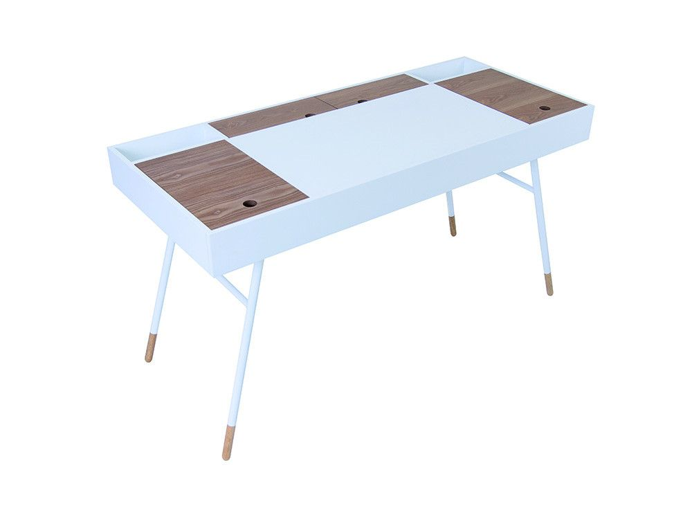 Morse Desk   White L Newell Furniture
