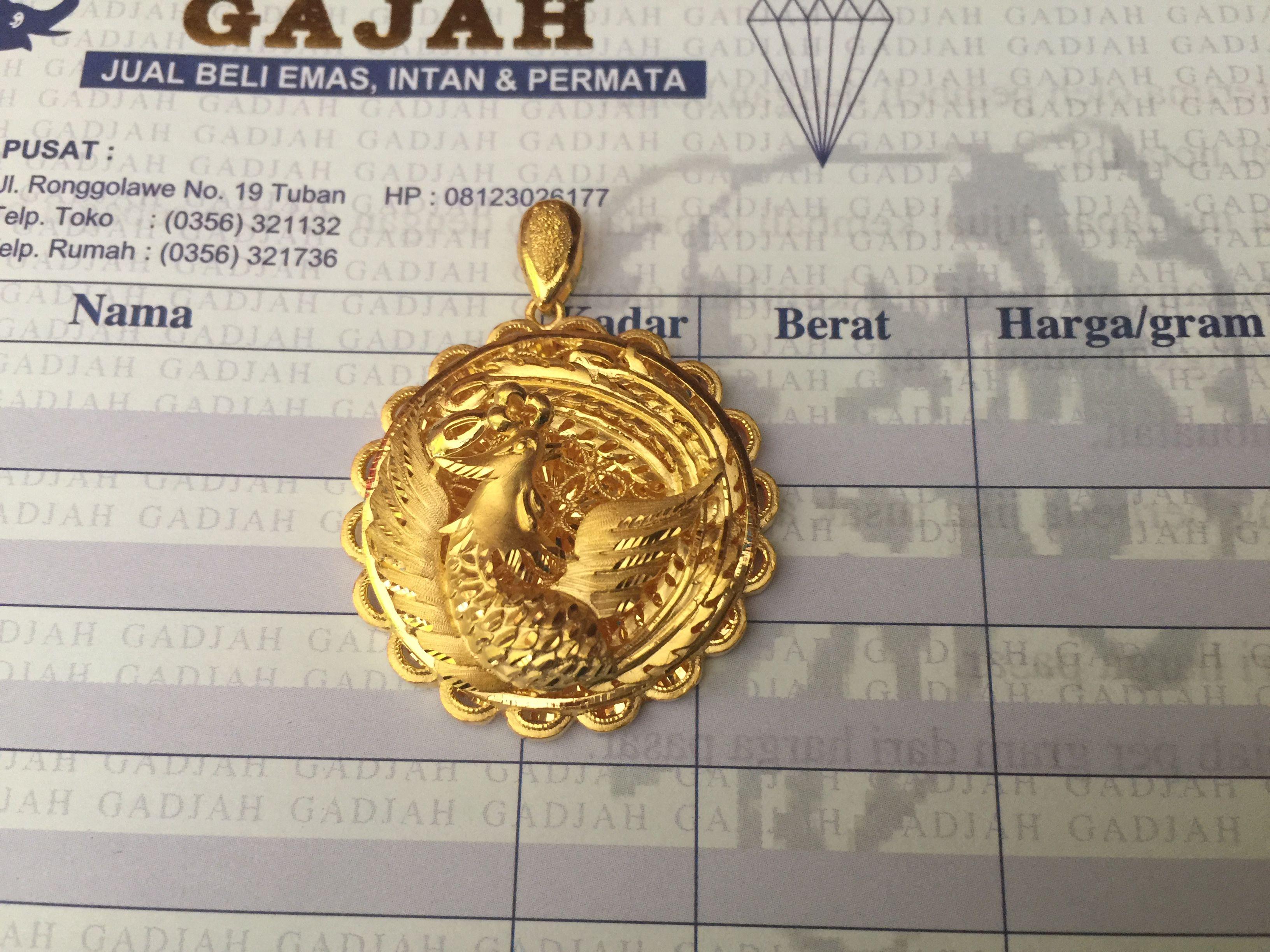 24k Gold Hong Kong Phoenix Bird Pendant 22k 24k Gold Jewelry