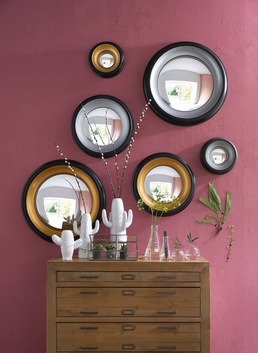 miroir de sorci re 43 cm samantha round mirrors pinterest. Black Bedroom Furniture Sets. Home Design Ideas