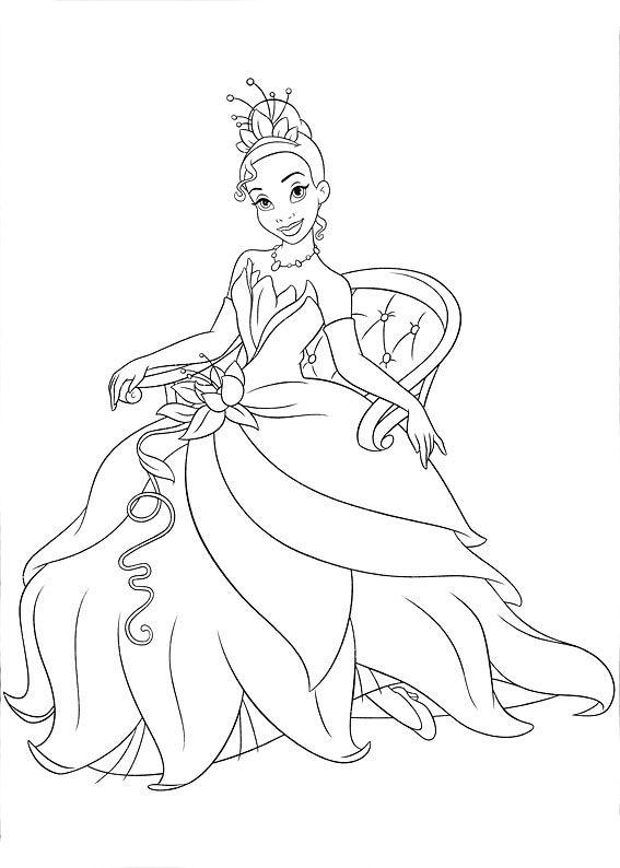 Tiana Princesa Da Disney Com Imagens Paginas Para Colorir Da