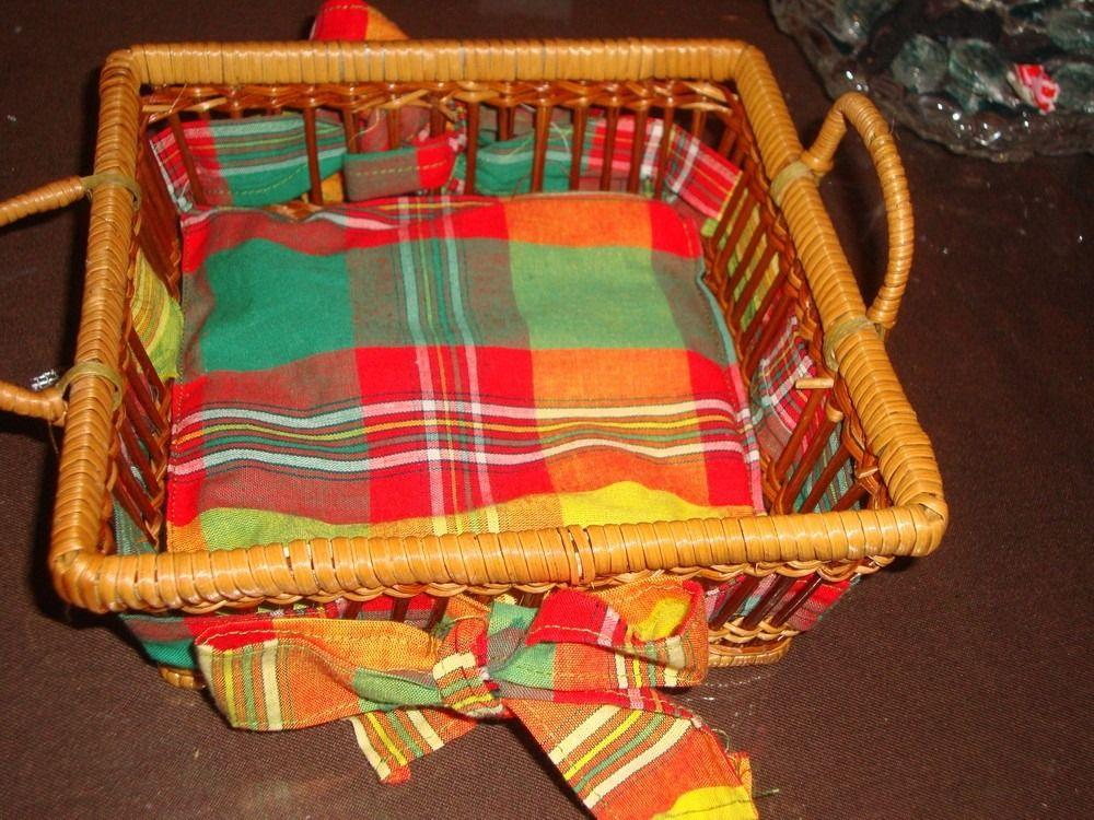 Panier avec tissu madras   Tissu madras   Pinterest   Panier ...