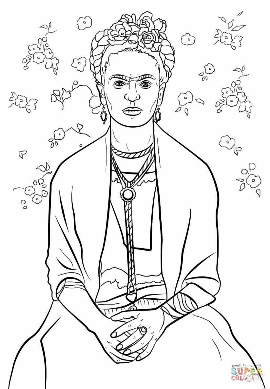 Frida Kahlo Coloring Page Beautiful Frida Kahlo Coloring Page Frida Kahlo Coloring Pages Frida Kahlo Drawing