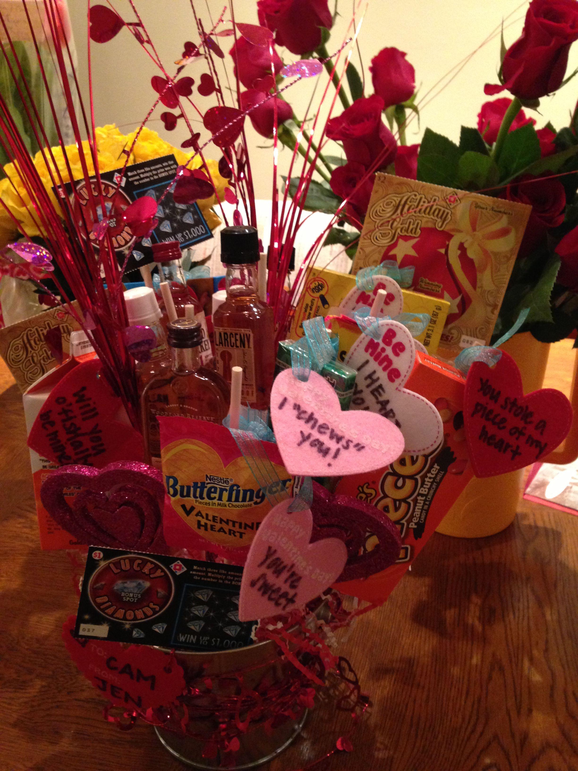 Mans Valentine S Day Gift Valentines Baskets For Him Valentines